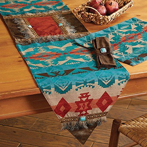 Cerrillos Hills Southwestern Table Runner   Rustic Kitche... Https://smile