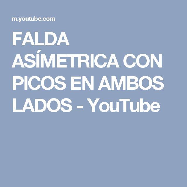 FALDA ASÍMETRICA CON PICOS EN AMBOS LADOS - YouTube