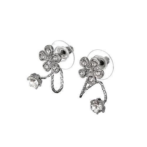 Dulce cúbica de cristal de circón perno prisionero del oído de la flor pendientes de joyería de las mujeres código( 1039093)