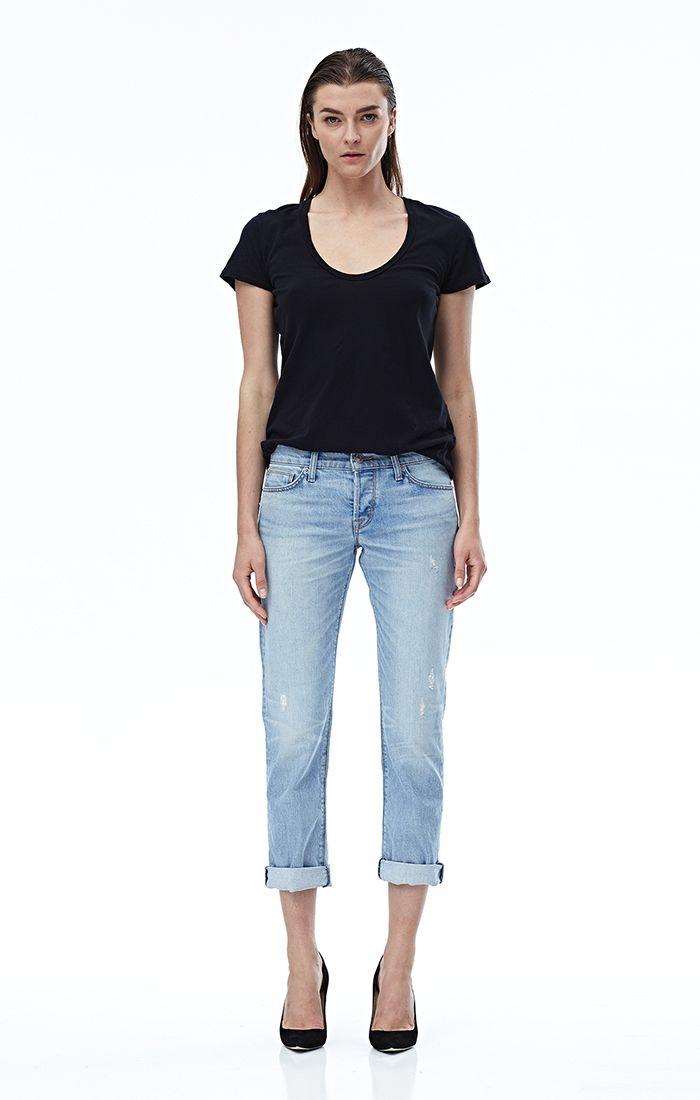 Loving these Hudson jeans! Click the picture to save 20% today!! The Riley Crop is a fresh take on relaxed straight jeans that sit easy on the hips and slim through the leg. These Riley jeans are made of Japanese denim, feature subtle destruction throughout, sit just a little higher on the ankle, and are finished with our light Heavy Hitter wash.