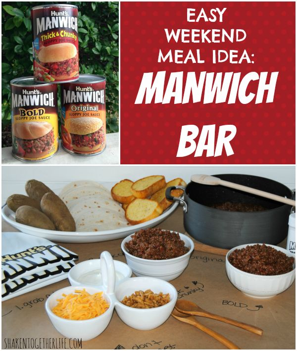 Create a manwich bar for an easy weekend meal or for the for Food bar game