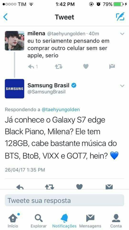 Até vc Samsung kkkk