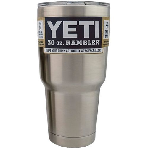 YETI Rambler 30 oz. very effective product. Expensive at $30 but will hold ice all day if you keep the lid on. Not dishwasher safe, you will ruin the seal if you do. I put a full cup of ice in the morning and still have ice after work