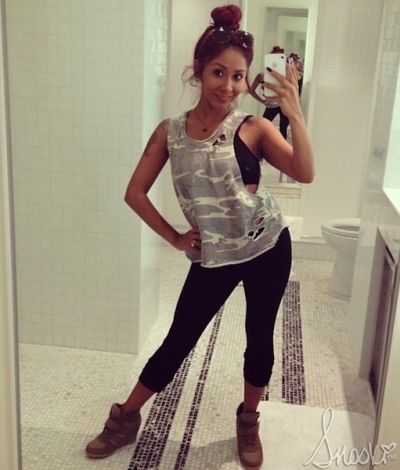 Nicole Snooki Polizzi - Dancing with the stars Rehearsals