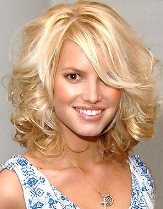 curly mid-length hair