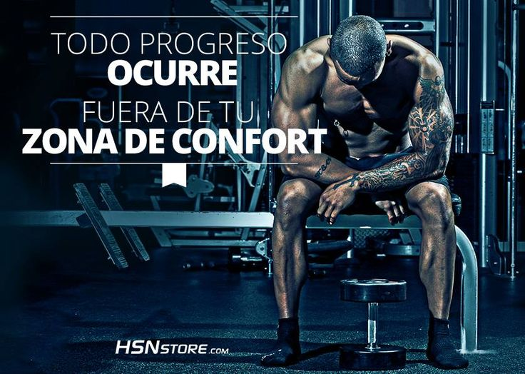 Todo progreso ocurre fuera de tu zona de confort. #fitness #motivation…