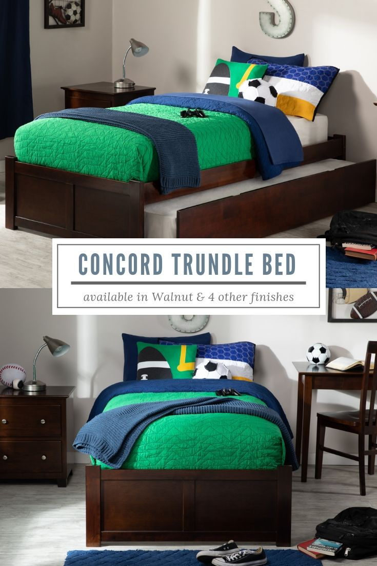 Concord Trundle Bed Atlantic Furniture Trundle Bed Bed Traditional Bed