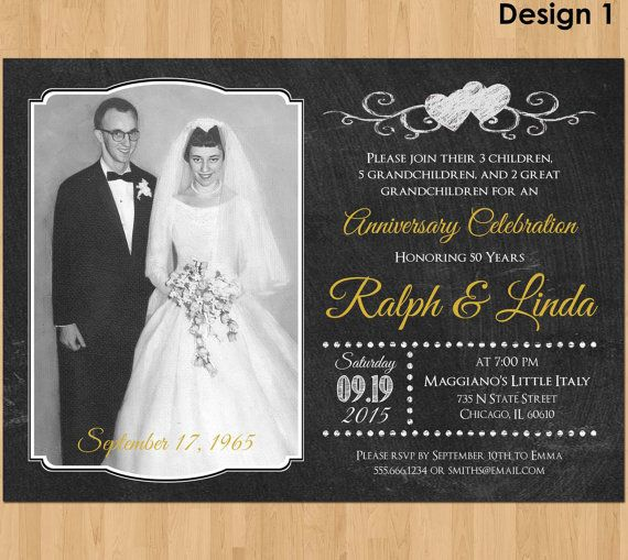 28 best 50th Anniversary Invitations images on Pinterest | 50th ...