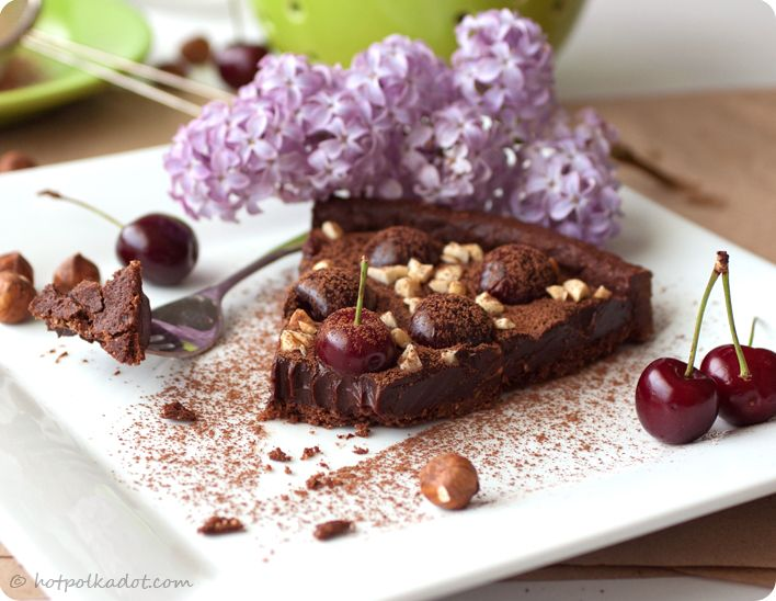 White Chocolate, Hazelnut, And Cherry Triangles Recipes — Dishmaps