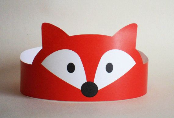 Fox Paper Crown - Printable. $2.00, via Etsy.