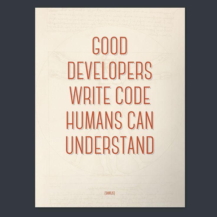 Good Developers (Poster)   ShirtJS