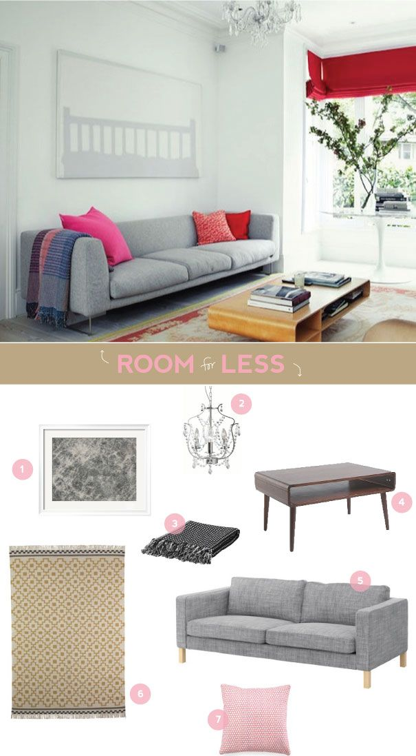 Decorate your living room with neutral basic and pops of color for less!