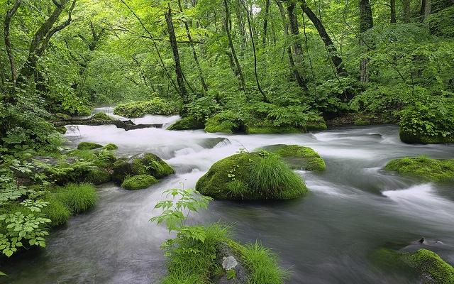 River in Akita Prefecture, Japan