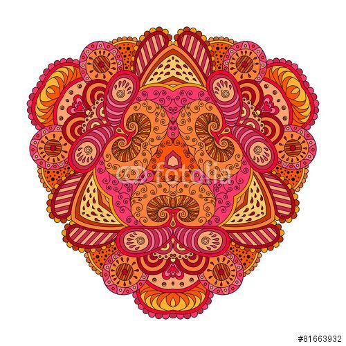 Вектор: Orange-pink mandala