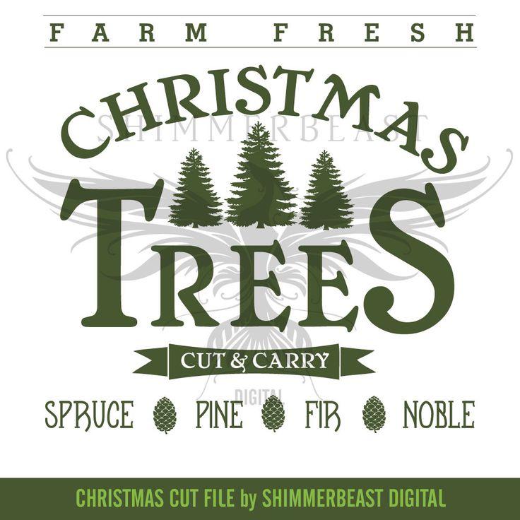 Christmas SVG Cut File | Farm Fresh Christmas Trees | Vintage Christmas svg | Christmas SVG design | Christmas SVG sayings by ShimmerbeastDigital on Etsy https://www.etsy.com/listing/494249991/christmas-svg-cut-file-farm-fresh