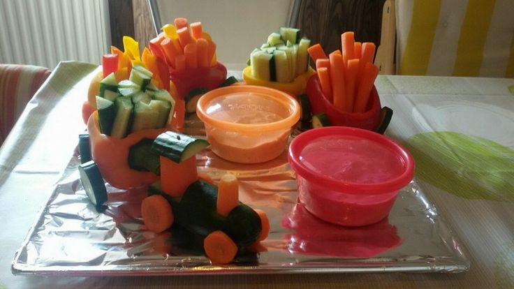 Paprika oder Rohkost-Zug zum Geburtstag in der Kita