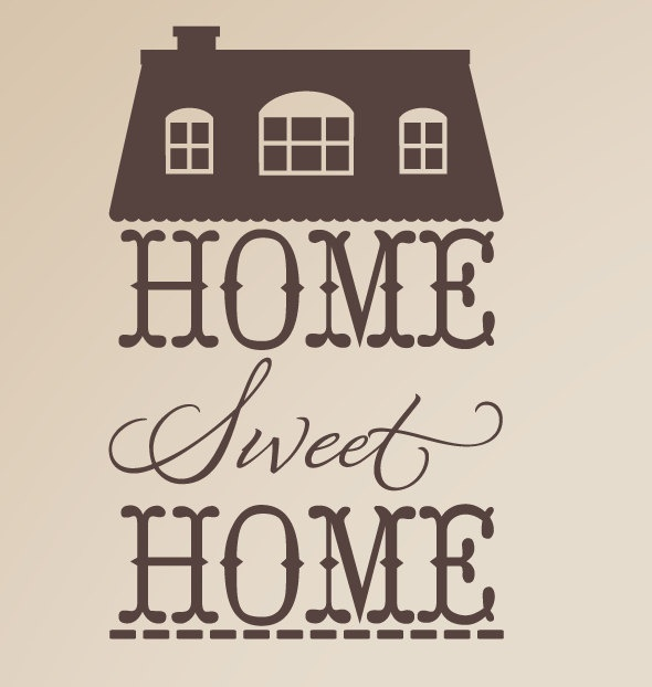 Home Sweet Home Vinyl Wall Decal. $25.00, via Etsy.