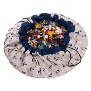play & go, Spielzeugsack Aufbewahrung, Motiv Anker, blau