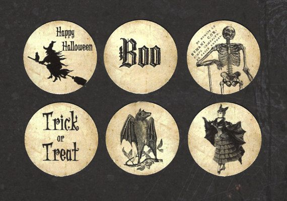 Halloween Sticker Seals Eerie Images of Halloween by luvcrystals, $2.95