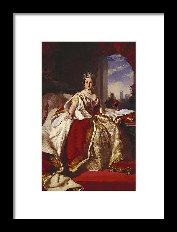 Queen Framed Print featuring the painting Queen Victoria 1859 by Winterhalter Franz Xaver