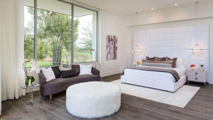 Master Bedroom Suite, Modern Bedroom, Large Headboard, Upholstered headboard,  Modern Bedroom Design, Neutral Modern Bedroom