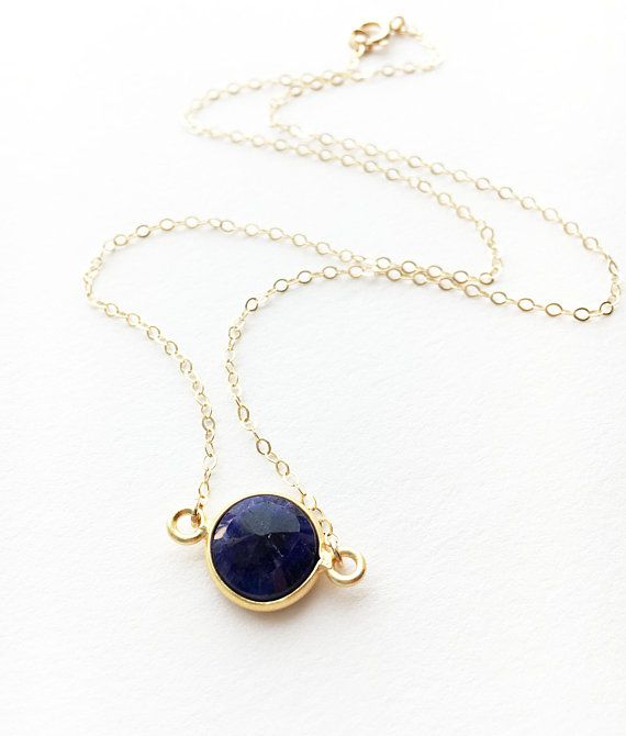 Sapphire Necklace Gold Sapphire Necklace September