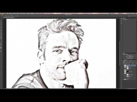 **Tutoriel PHOTOSHOP** 102016 *Tuto transformer photo en dessin* - Effet crayon à papier ect...** - YouTube