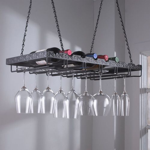 Found it at Wayfair - 8 Bottle Hanging Wine Rack