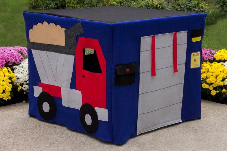 Felt Card Table Playhouse, Construction Site, Personalized, Custom Order. $210.00, via Etsy.