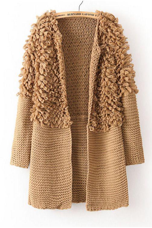 open loop knit long cardigan