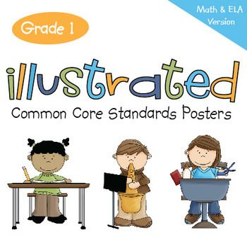 "First Grade Common Core Standards ""I Can Statements"" Poster"
