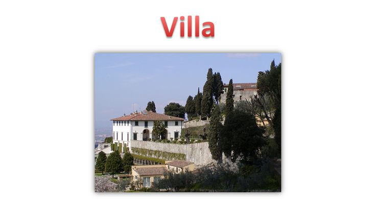 The villa was originally a house of rural Roman built for the higher social classes. There are two types of villa: the urban villa , which was a country residence, and the rustic villa , the residence with farm functions , permanently occupied by servants, who generally occupied the property, revolving around the villa, which could be inhabited seasonally.