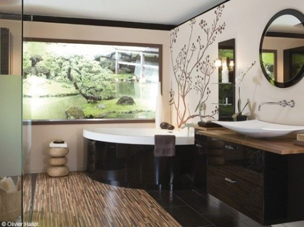 109 best images about id es salle de bain on pinterest for Deco salle de bain nature zen
