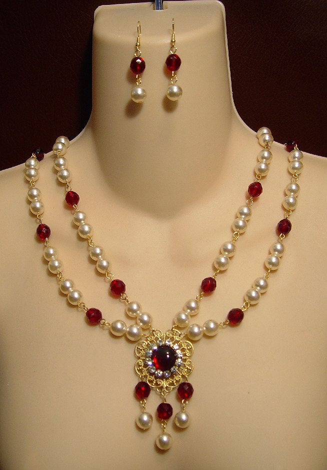 Medieval Necklace Renaissance Necklace Tudor by DRAGONPIPES