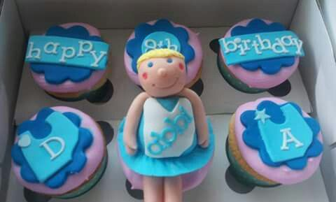 Vanilla netball themed cupcakes. Totally delicious!   Check us out at www.facebook.com/totaleventplanning