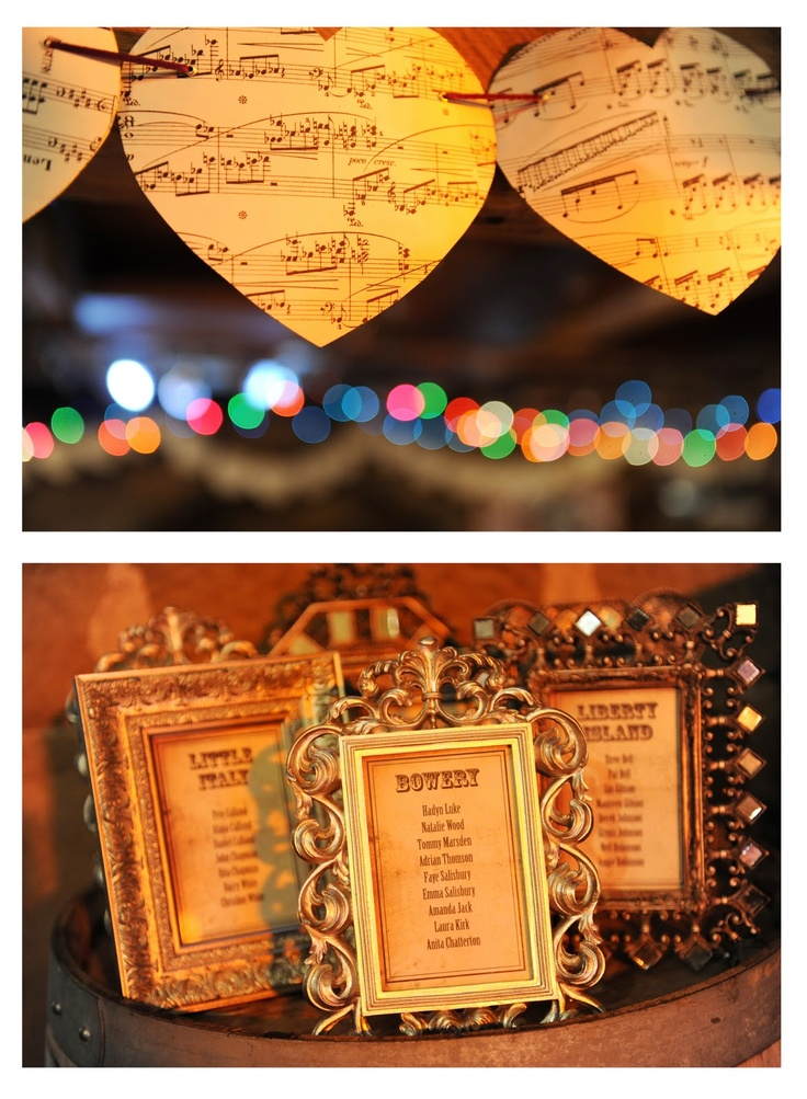 My wedding table plan & DIY sheet music bunting - featured on So You're Getting Married