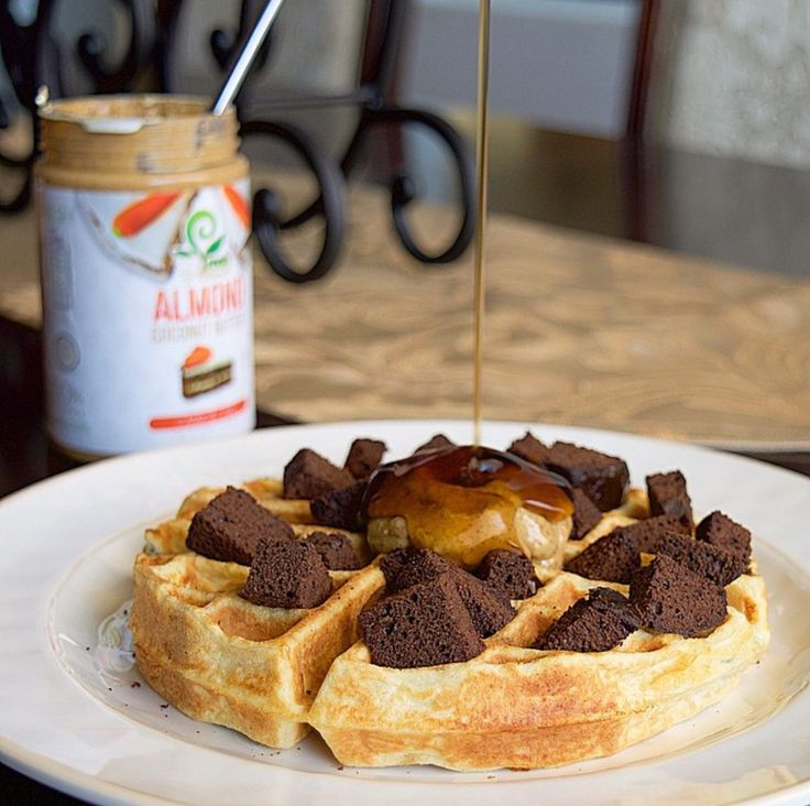 Are you ready for a moist decadent waffle with a protein twist!? Topped with protein brownie and a dollop of carrot cake almond butter and a drizzle of sugar free syrup! Click the image now to buy your ABS Pancakes Mix today!