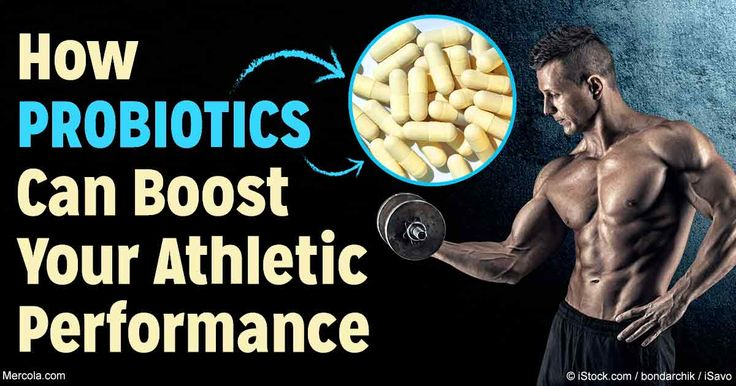 Probiotics have a beneficial impact on muscle inflammation and post-exercise muscle damage, which may improve your athletic performance. http://fitness.mercola.com/sites/fitness/archive/2016/11/18/probiotics-for-athletes.aspx