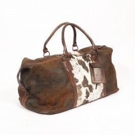 Cowhide Floral Weekend Bag from Old Gringo