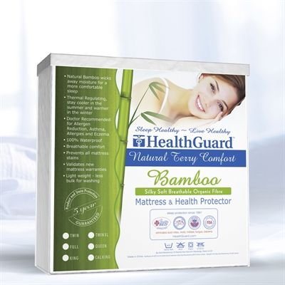 HealthGuard HGBTMP Bamboo Terry Mattress Cover