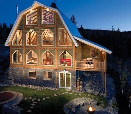 Love this barn house this is what it looks like for Barn like homes