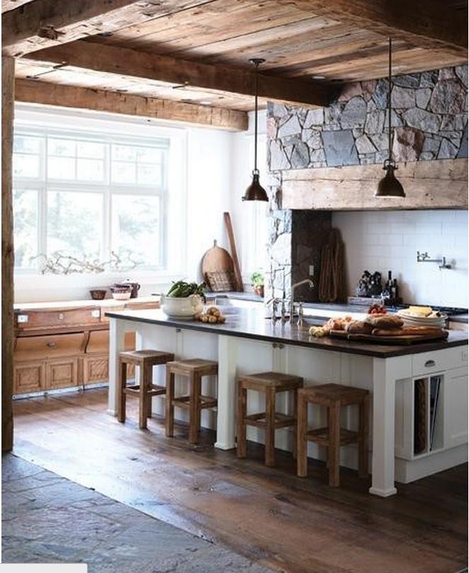Rustic #kitchen #wood