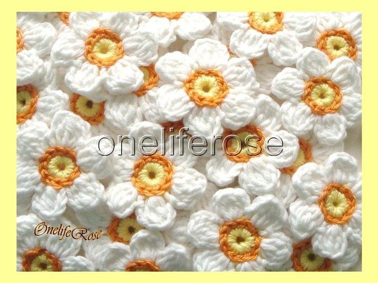 Gehäkelte Blumen 12 Stück von OnelifeRosen auf Etsy