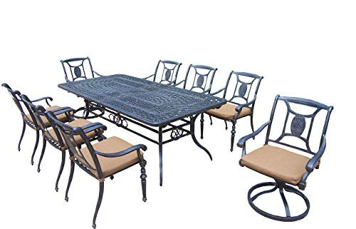 Oakland Living Victoria 9-Piece Set with 84 to 126-Inch by 44-Inch Extendable Table 6 Stackable Chairs 2 Swivel Rockers and Sunbrella Cushions Review https://patioporchswings.info/oakland-living-victoria-9-piece-set-with-84-to-126-inch-by-44-inch-extendable-table-6-stackable-chairs-2-swivel-rockers-and-sunbrella-cushions-review/