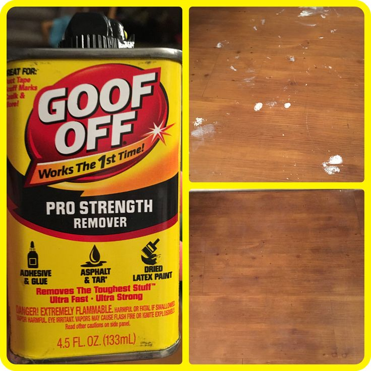 This stuff is amazing, we got white paint on our hard wood floor and I had no idea how to get it off, so we went to Walmart and someone recommend this product. I took a razor blade and got any paint off I could then just took a old wash cloth and this and put some of this right on the paint on the floor and wiped it off. And the paint came right off. Might have to go over a second time if it's a big spot but it worked better than I thought