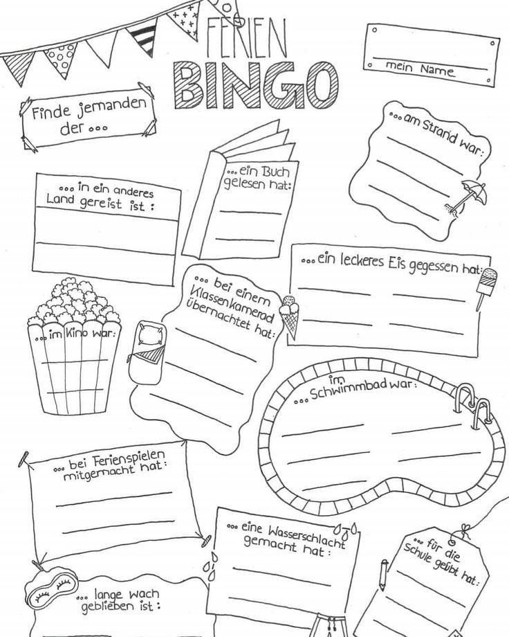 ~ Holiday Bingo ~ [Werbung] Tomorrow school will start again for me. I am beautiful
