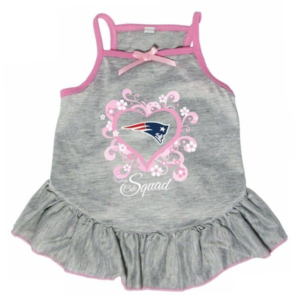 """Shop where every purchase helps shelter pets! New England Patriots """"Too Cute Squad"""" Pet Dress - from $21.95"""