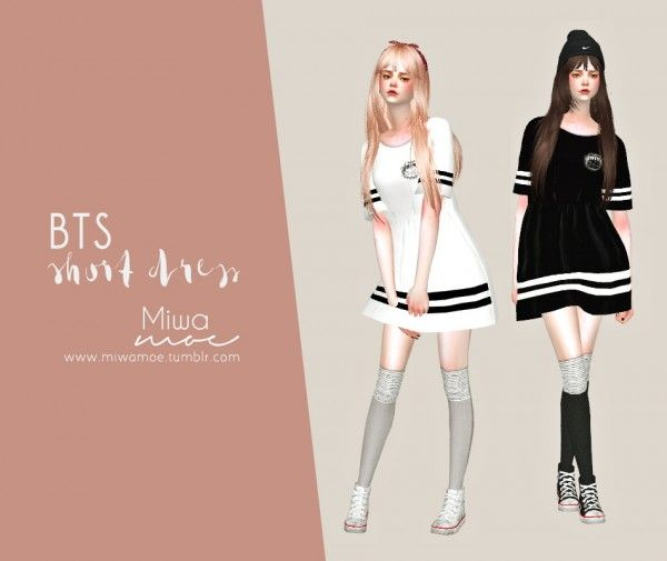 Miwamoe: BTS Short Dress • Sims 4 Downloads