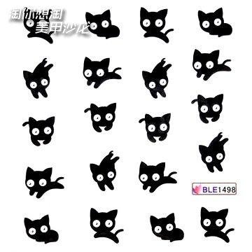 Watermark nail art applique water transfer printing small cat TUZKI finger sticker cartoon series US $10.00
