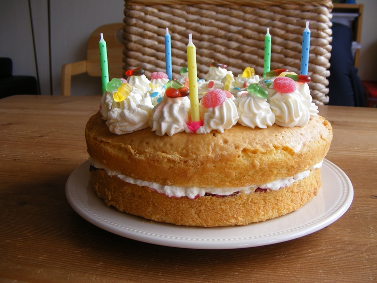 Een schitterende verjaardagstaart met bvehulp van de wonderpan!
